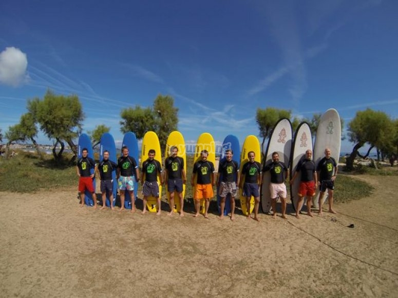 Surf camp in Noja