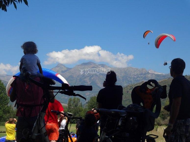 Excursión en bicicleta de montaña