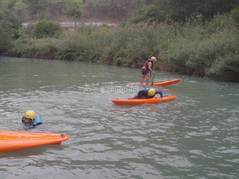 Paddle surf en el rio Jucar