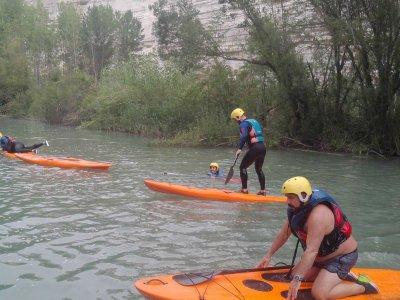 Sesión de Paddle Surf en el río Júcar, medio día