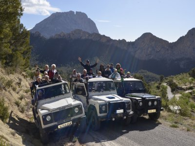 Percorso safari in jeep 4x4 + Fuentes Algar, Costa Blanca