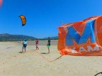 风筝控制从沙子