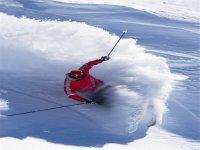 Surcando la nieve