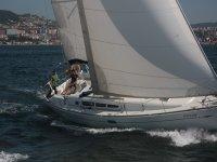 Sailing on the coast in Galicia