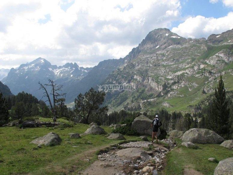 Ejercicio en la montaña