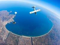 Light aircraft and tandem jump
