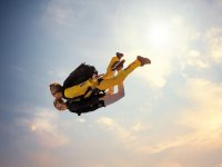 Tandem jump with a certified instructor
