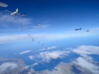 An event with dozens of parachutists