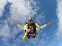Instructor during a tandem jump