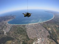Skydiving over the coast of Girona