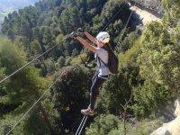 铁索攀岩森特列斯Baumes Corcades与照片