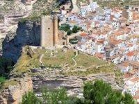 白色Equino路线Alcala del Jucar城堡