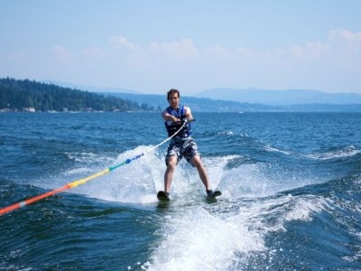 Water Skiing Session in Pineda de Mar - 15'