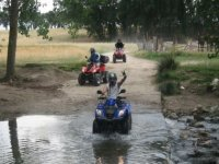 Crossing the creek by quad