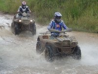 Quads on muddy roads