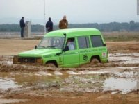 Sunk completely in the mud