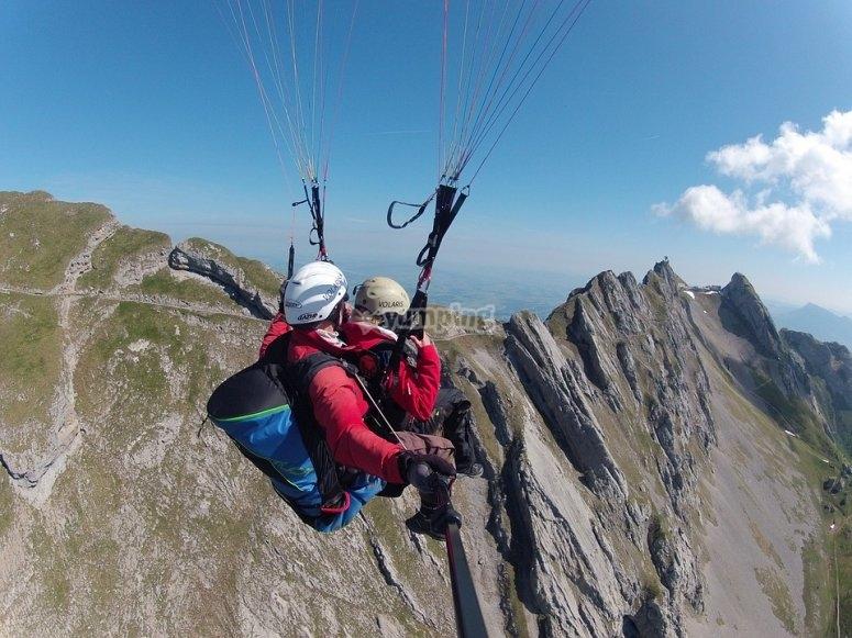 Paragliding near Madrid