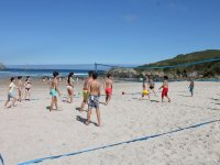 Beach volley nel surf campo