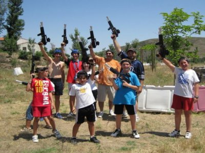Laser game match for groups in Moncayo