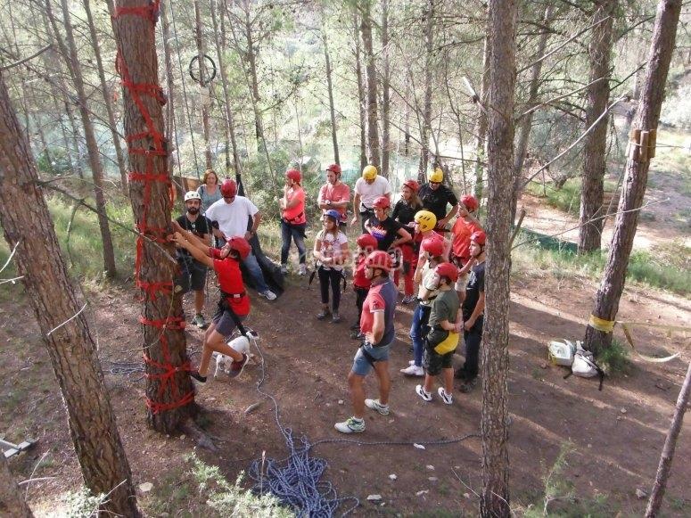 Tree-top adventure in Montanejos