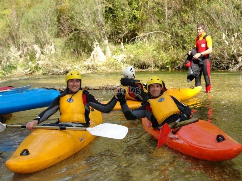 Kayaks en el Alto Tajo