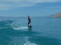 Practica de wakeboard