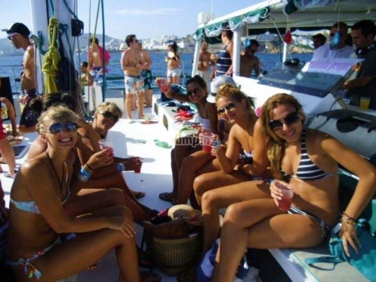Disfruta en el barco