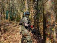 Escenario de paintball natural