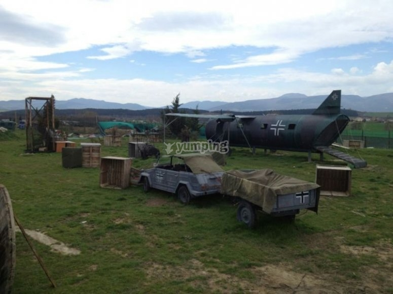 Escenario de paintball