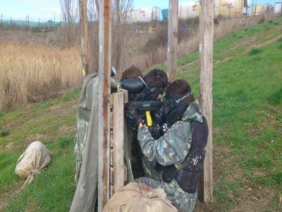 500 balls paintball game in Pamplona