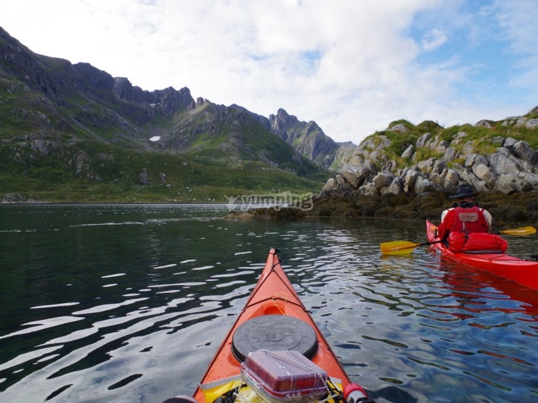 Descending the Sella by a kayak