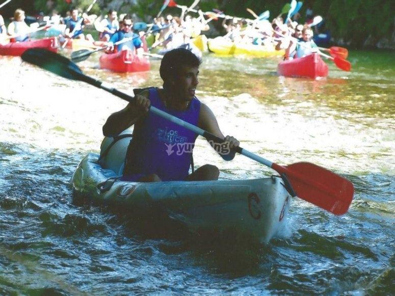 Canoe through the Sella river
