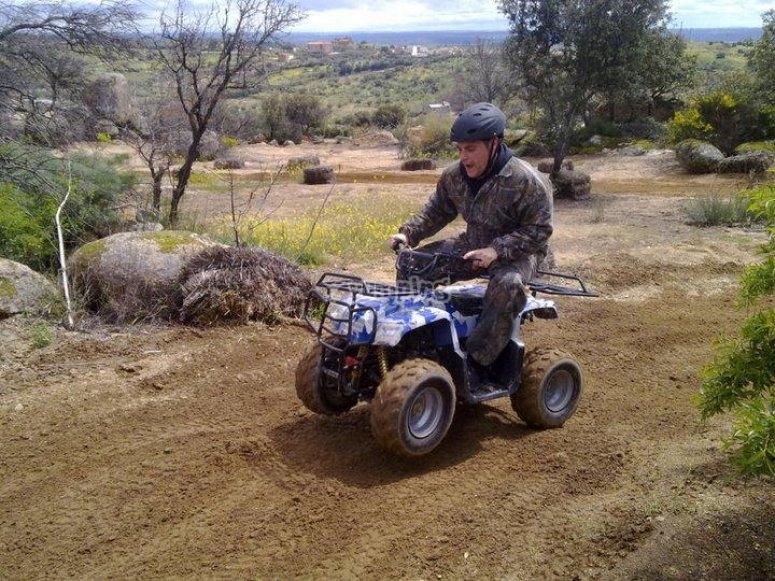 Diversion encima de un quad