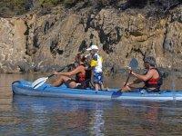 Kayak familiar con el peque