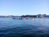 Navegando en kayaks