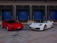 Ferrari red and white