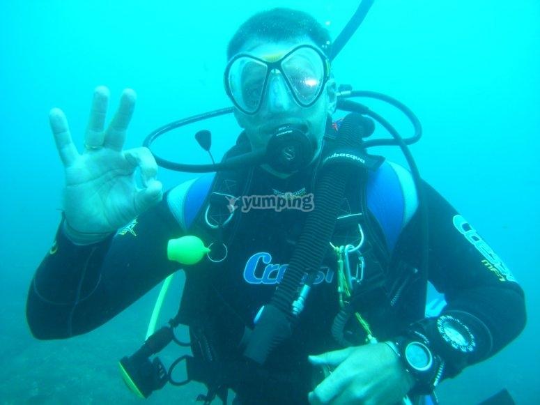在福恩吉罗拉潜水