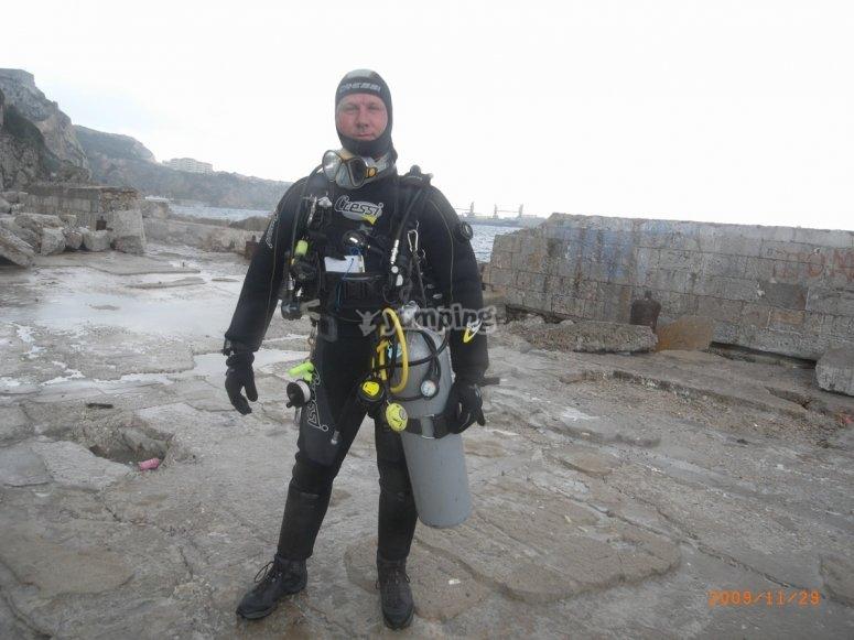 Listo para la inmersion
