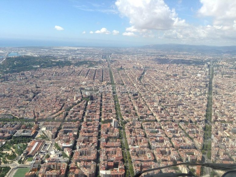 Flight over Barcelona