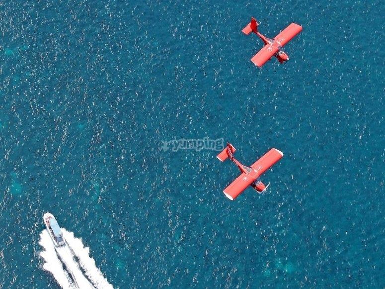 Light aircraft flight
