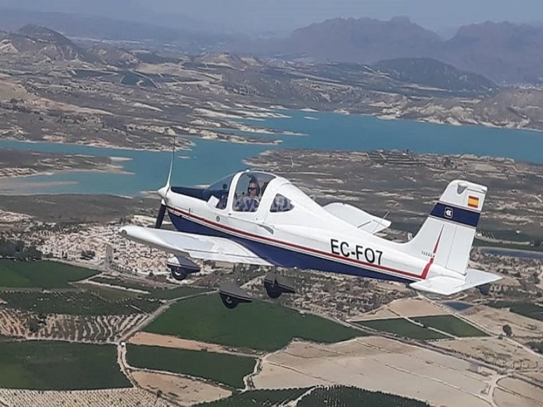 Aircraft ride over Torrevieja