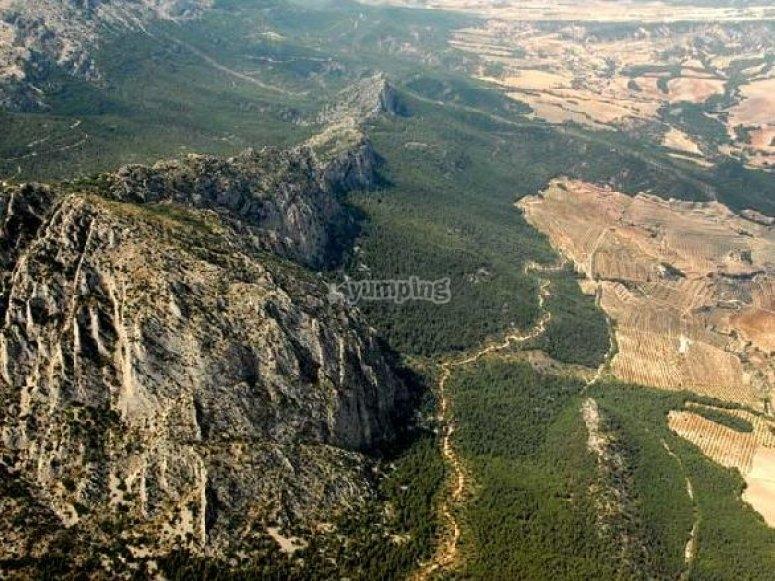 Panoramica desde el aire