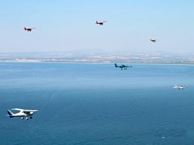 Light aircraft over Torrevieja 30 min