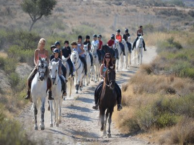 骑马在Via Verde del Maigmo +食物