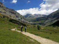 Walking through the Ordesa Valley