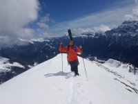 Snowy summit in the Pineta Valley