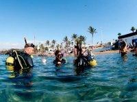 Laureati in immersione a Puerto del Carmen