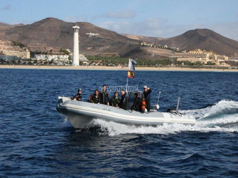Salida de buceo en Fuerteventura