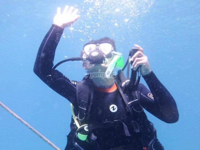 Realizando una inmersion