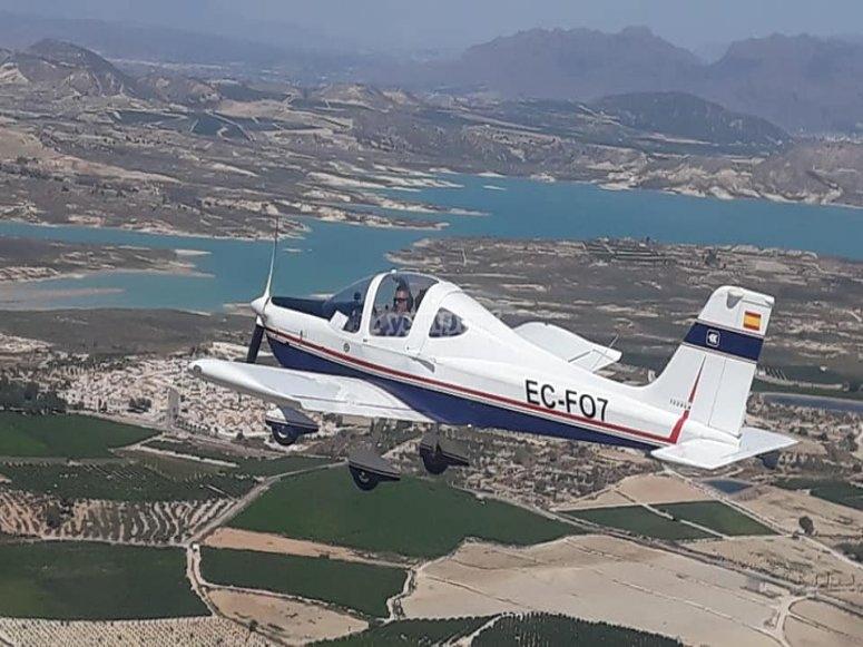 Light aircraft flight in Torrevieja